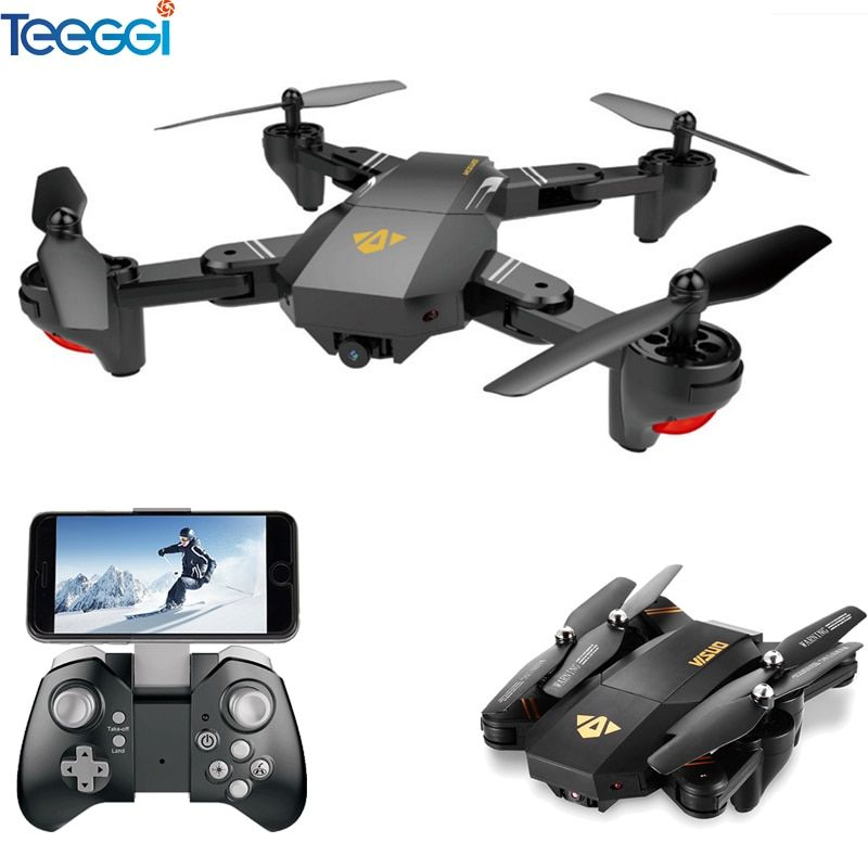 VISUO Xs809HW Xs809W Foldable Drone with Camera HD 2MP Wide Angle WIFI FPV <font><b>Altitude</b></font> Hold RC Quadcopter Helicopter VS H47 Dron