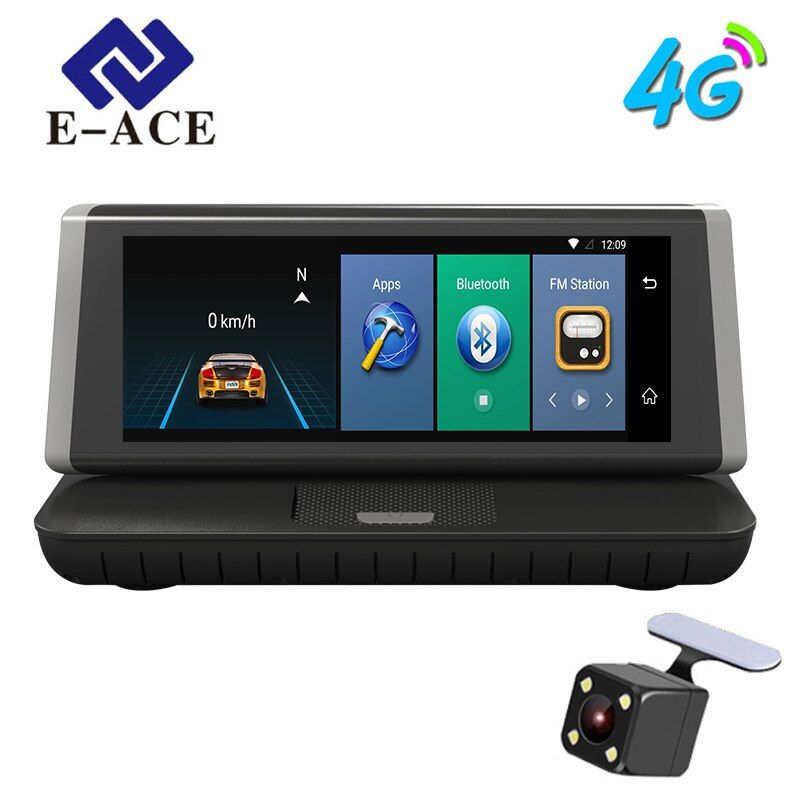 E-ACE 8 inch 4G Car GPS Navigation Recorder Android 5.1 Navigators Automobile With DVR FHD 1080 Vehicle GPS Sat Nav Free maps