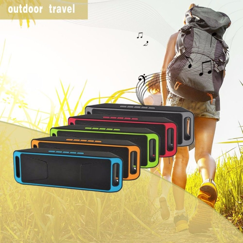 Onleny Wireless Outdoor Bluetooth Speaker Dirtproof Subwoofer Portable Music Player For Car Vehicle Cell Phone Support TF Card