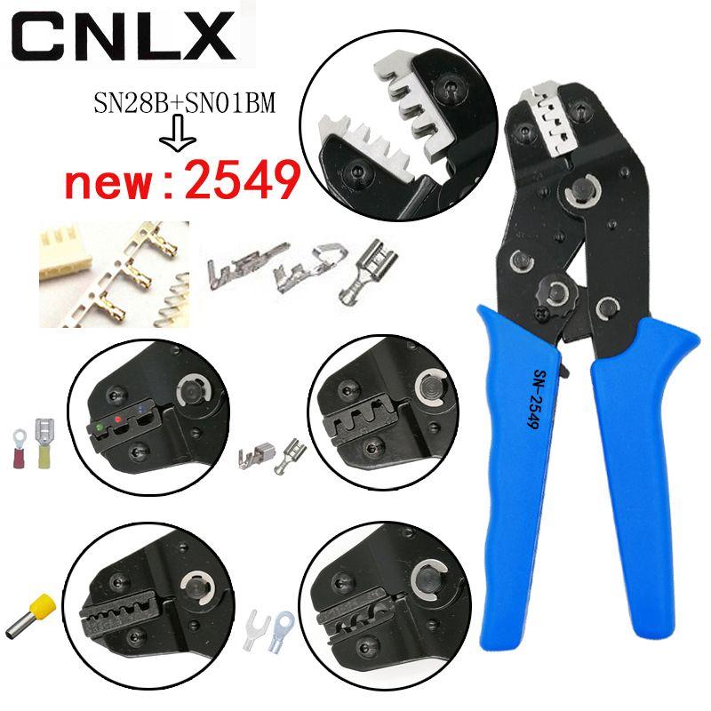 SN-2549 pince à sertir 0.08-1mm2 20-10AWG XH2.54/PH2.0/2510 SM plug tab terminaux SN-48B/02C/ 06WF/06 pour tube isolation outils