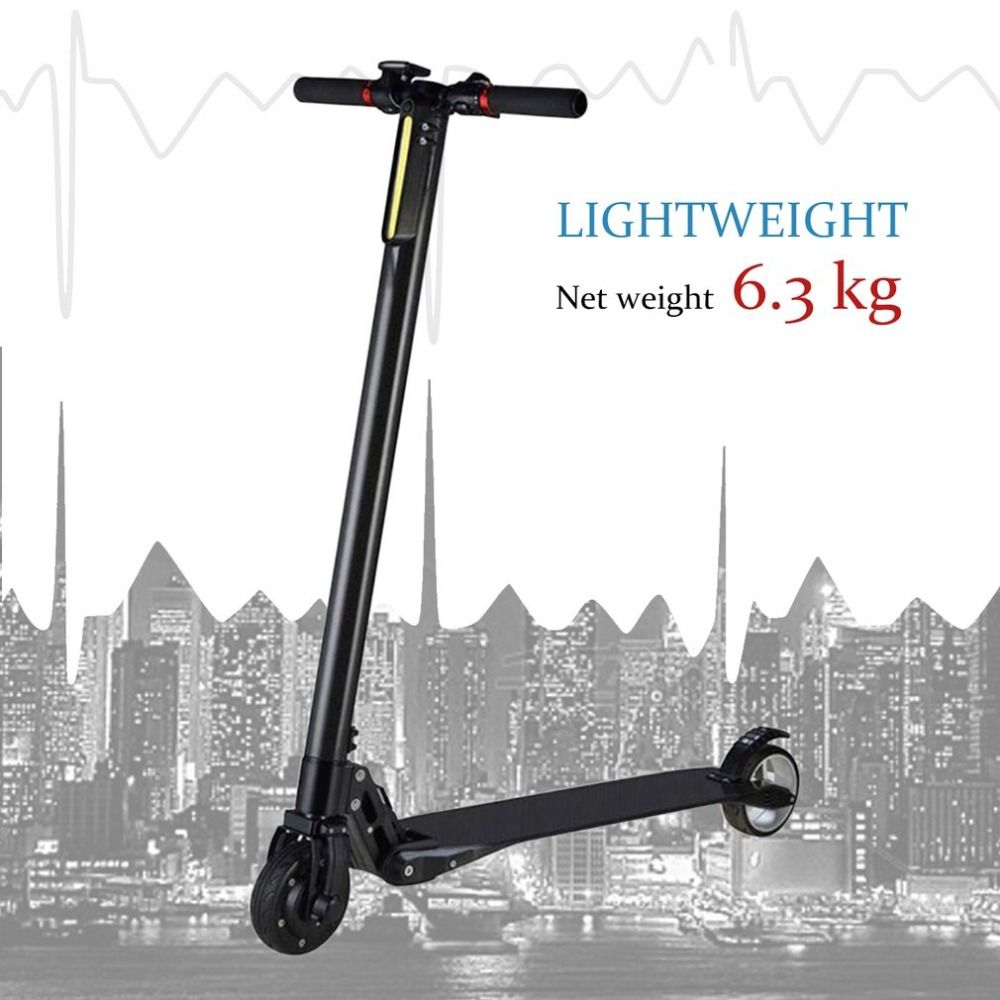 Ultra Light Carbon Fiber Portable Foldable Electric Scooter With Two Wheels Fast Speed Skateboard With LCD Display New Style