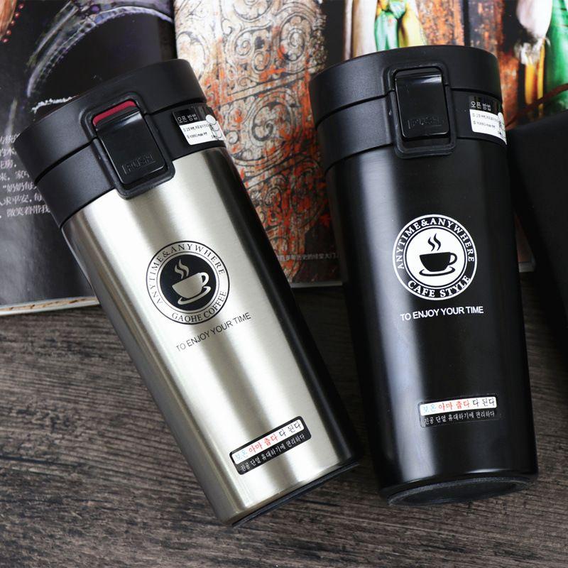 ZOOOBE Thermos tasse à café Double paroi en acier inoxydable gobelet sous vide flacon bouteille thermo thé tasse de voyage thermos tasse thermotasse