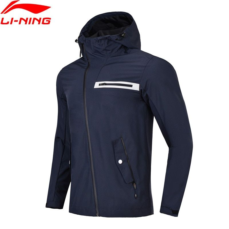 Li-Ning Men Outdoor Windbreaker Regular Fit 100% Polyester AT PROOF SMART Waterproof Coat LiNing Sports Jackets AFDN029 MWF358