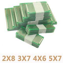 20 шт./лот 5x7 4x6 3x7 2x8 см Двусторонняя прототип Diy универсальная печатная схема pcb совет печатную плату для Arduino