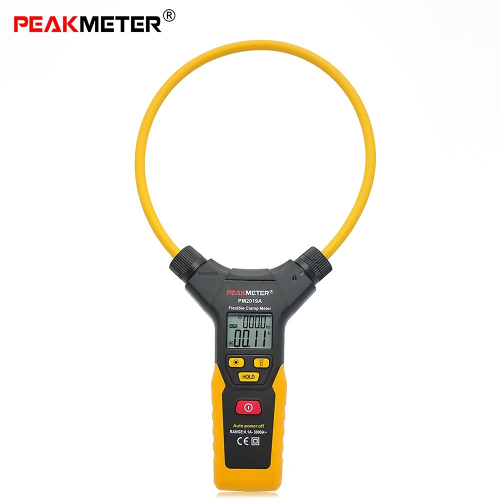 High Precision PEAKMETER PM2019A Handheld Digital Flexible Clamp Meter Multimeter AC Current Frequency