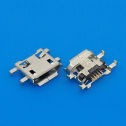 5-500pcs Micro USB Connector 5pin 0.72mm heavy plate B type have curling side Female Jack For Mobile Phone Charging Socket