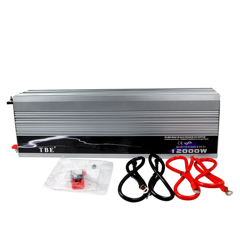 High Quality Car Auto 12000w 12000 Watt Pure Sine WAVE Power Inverter DC 12V/24V to AC 220V Car Converter Adapter Inverter +USB