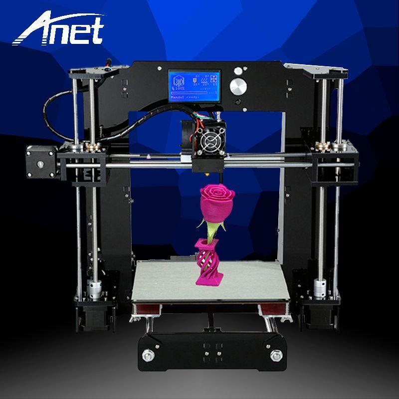 Anet A6 3D Printer High Precision Prusa i3 Reprap Easy Assembly 3D Printer High Quality Cheap Printer 1.75mm Filament Kit HotBed