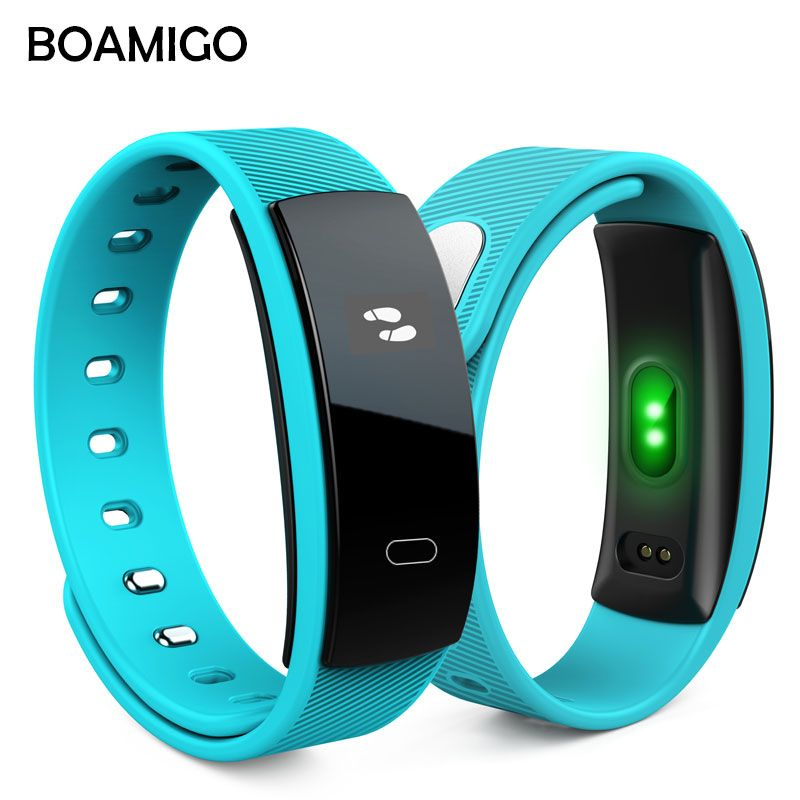 Smart Watches BOAMIGO <font><b>Unisex</b></font> Bracelet Wristband Bluetooth Heart Rate Message Reminder Sleep Monitoring For IOS Android phone