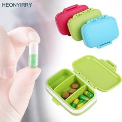 Portable Mini Pil Case Kotak Obat 3 Grids Perjalanan Rumah Obat Medis Tablet Kontainer Kosong Rumah Pemegang Kasus