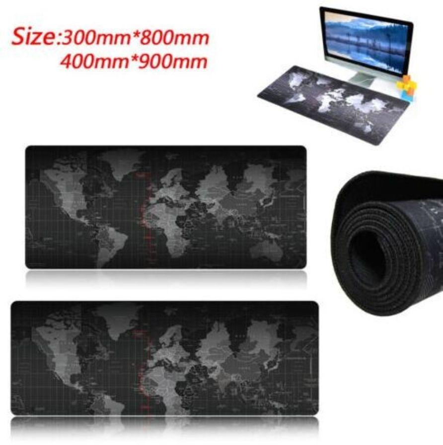 800x400/700x300/800x300/600x300mm carte du monde verrouillage bord tapis de souris Gamer grande taille ordinateur clavier tapis Table Gaming tapis de souris
