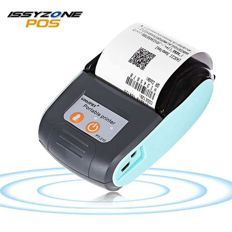 ISSYZONEPOS 58mm Bluetooth Thermische Drucker Mini Tragbare Drahtlose Empfang Drucker für Windows Android IMP026