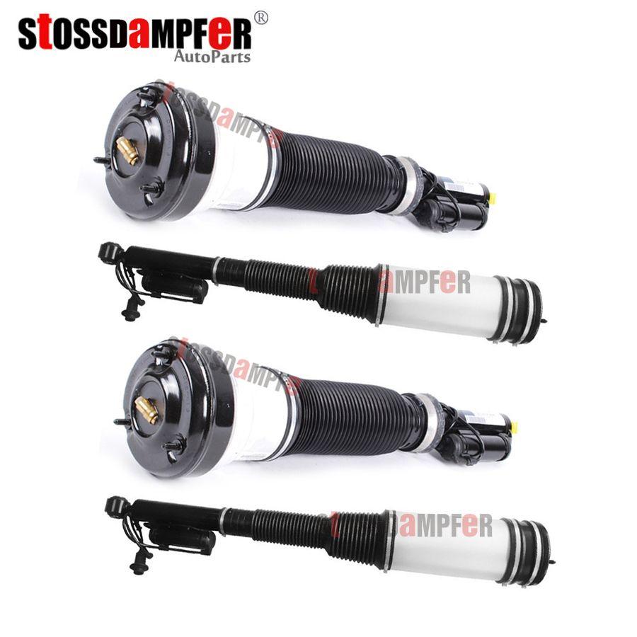 StOSSDaMPFeR 4PCS Front Air Ride Shock Absorber Rear Air Spring Fit Mercedes-Benz W220 S-Class 2203202438 2203205013