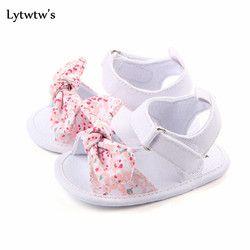 1 pares de lytwtw niños bebé niños zapatos antideslizante lienzo Arco-Nudo niños sandalias bebes zapatos ninas recién nacidos infantil