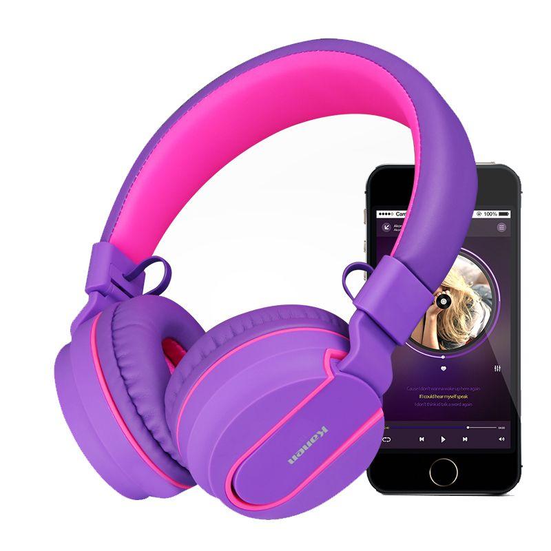 Kanen casque sans fil Bluetooth casque stéréo écouteurs avec micro mains libres écouteurs pour iPhone Samsung Pc pour fille casque
