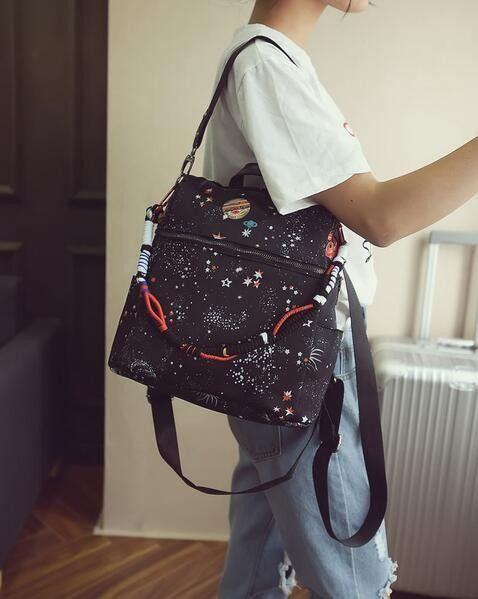 Корейские женские 3 способа рюкзаки печати рюкзак Mochila рюкзак модные оксфорды сумка ретро повседневные школьные сумки Дорожная сумка для но...