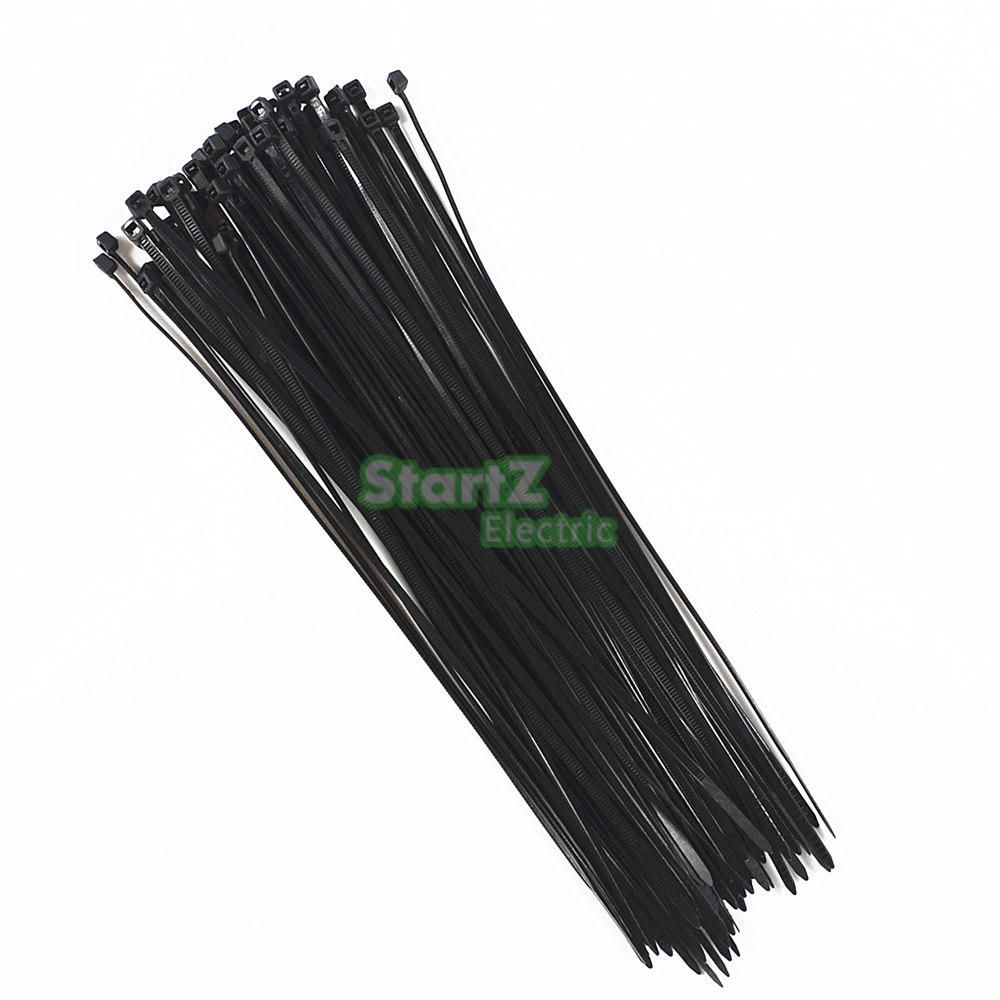 500Pcs/bag 4X (150,200,250,300)mm Self-Locking BlACK  Nylon66 Wire Cable Zip Ties.cable ties SGS Certificated