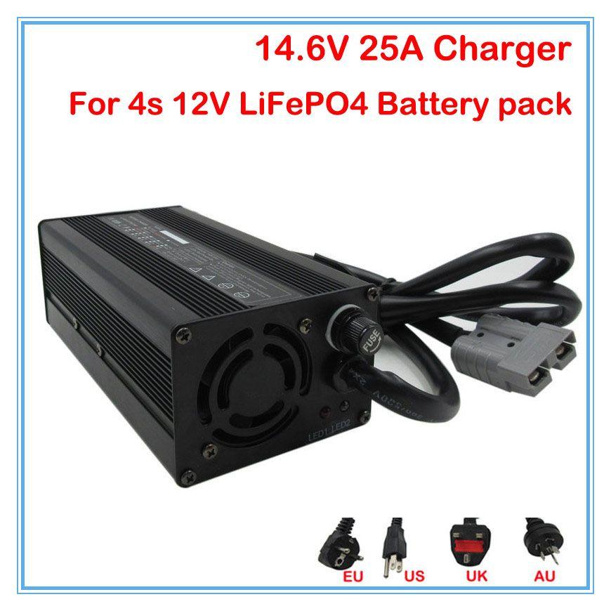600 W LiFePO4 Batterie Ladegerät 14,6 V 25A ebike ladegerät 12 V 25A smart ladegerät Verwenden für 4 S 12 V LiFePO4 Batterie pack