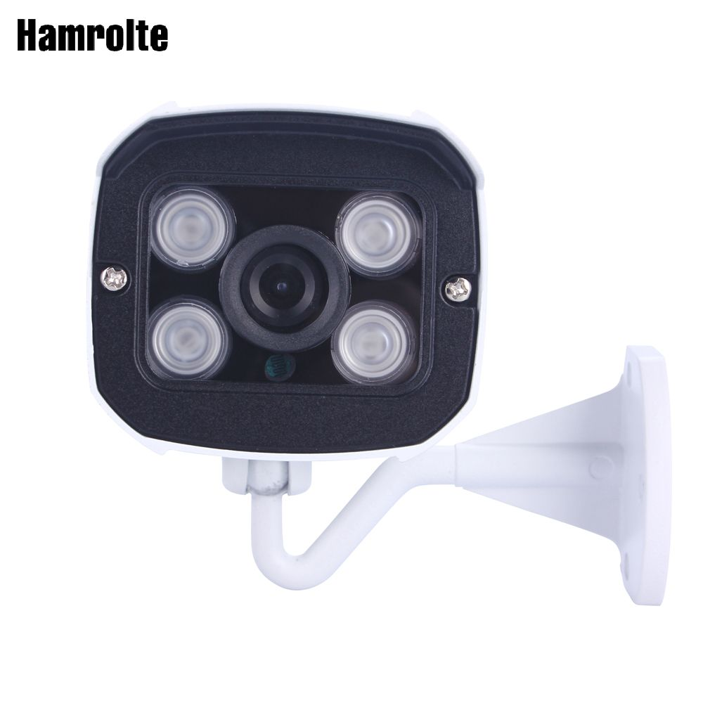 Hamrolte CCTV Camera AHD Camera 1080P High Resolution 2.8MM Wide Angle Lens Nightvision Waterproof Bullet outdoor Camera
