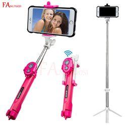 FANGTUOSI bluetooth selfie stick mini tripod Extendable Monopod with remote control Pau Palo selfie stick for mobile phones