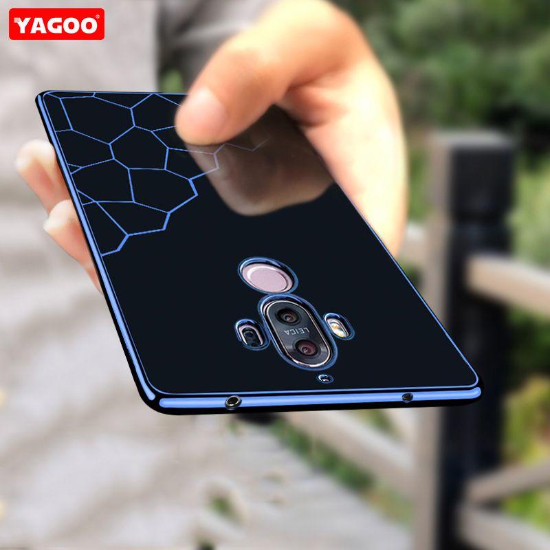 Casos de teléfono para huawei mate 9 caso TPU de silicona de lujo 360 armadura a prueba de golpes shell diseño de moda para huawei mate 9 caso Yagoo