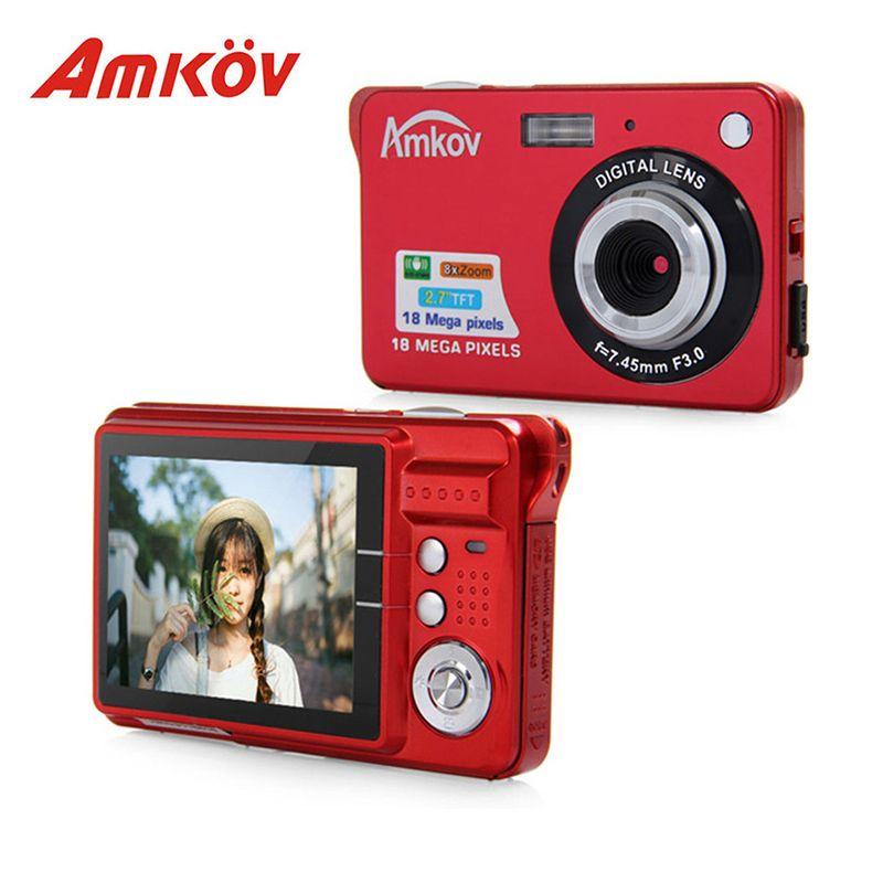 Original Amkov AMK-CDC3 Professional Cameras 2.7'' TFT Screen 8 Megapixel Mini Portable HD Shooting Camera Pocket Digital Camera