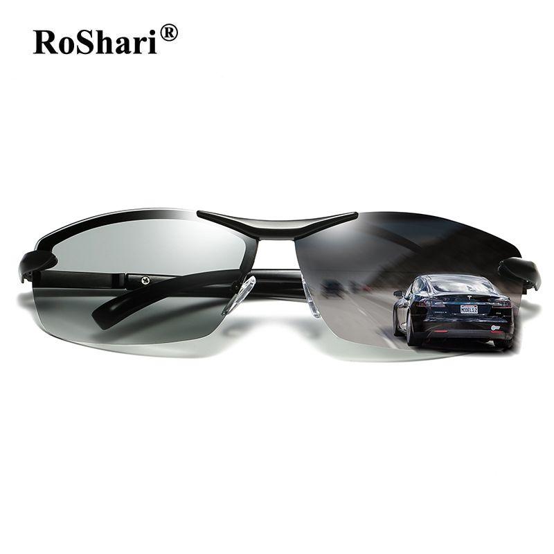 RoShari 2018 Neue Verfärbt sonnenbrille männer polarisierte Photochromen Professionellen fahr Sonnenbrille männer lentes de sol hombre A289
