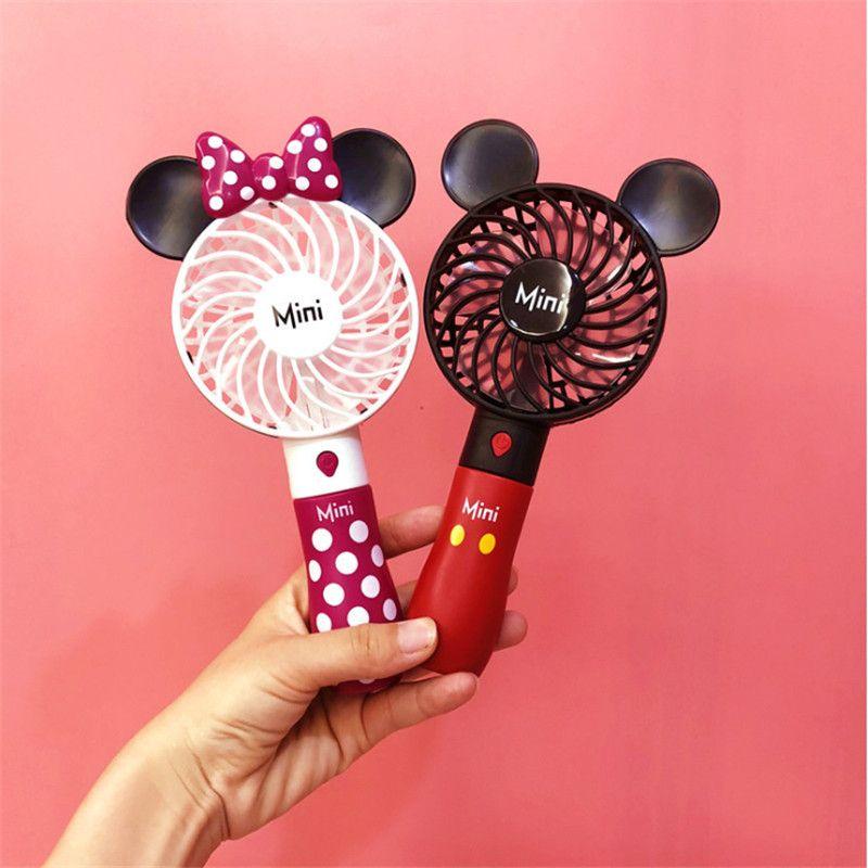 2019 créatif extérieur portable dessin animé mignon Mickey USB ventilateur étudiant mini ventilateur de poche avec batterie au lithium rechargeable