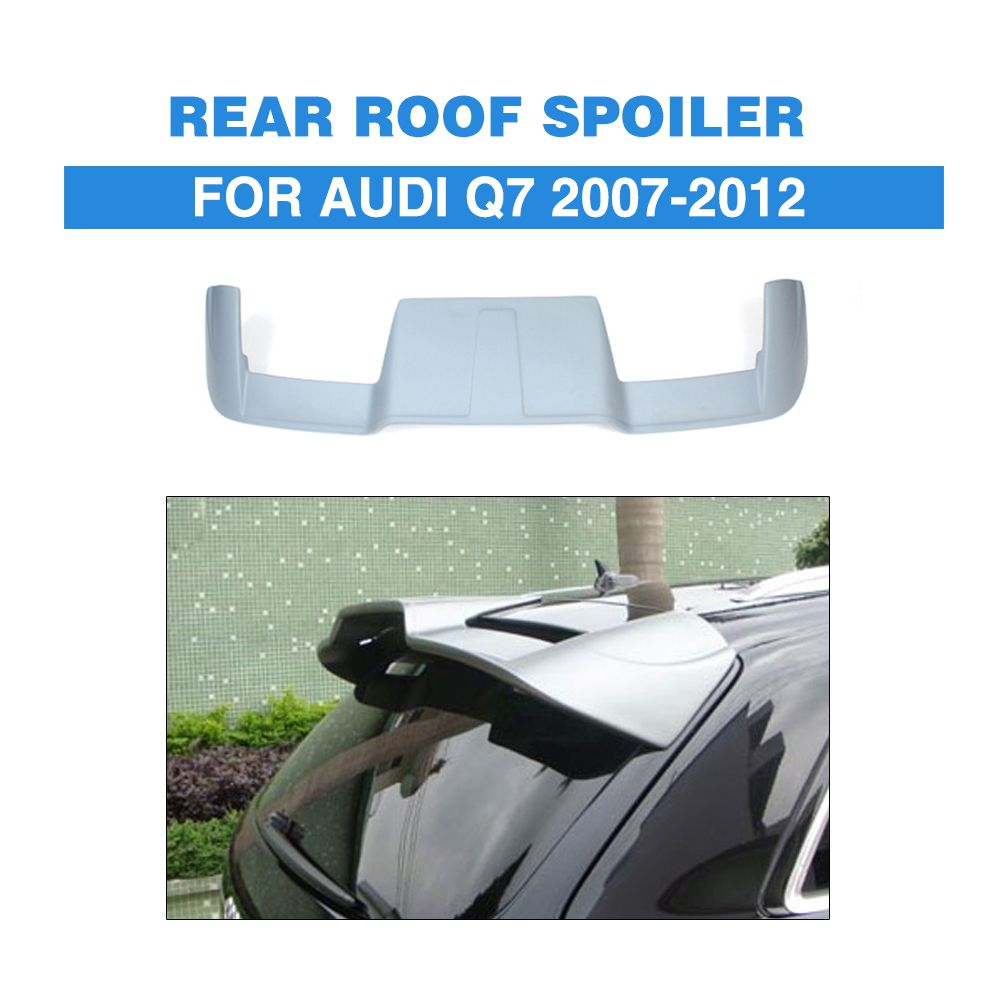 Fiber Glass Unpainted Rear Roof Spoiler Window Wing A Style Boot Spoiler Lip For Audi Q7 2007-2012