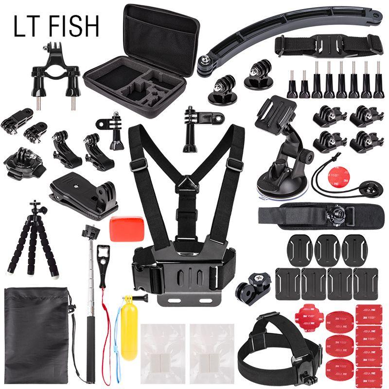 for Gopro Accessories Kit for HD Go Pro HERO 6 5 4 3 2 1 & for SJ4000/SJ5000//SJ6000/SJCAM Xiao mi Yi 4K/M20 4K/ APEMAN