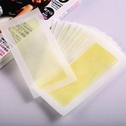 20 Buah 10 Lembar Kuning Rambut Dua Sisi Dingin Wax Strip Kertas untuk Kaki Tubuh Wajah Waxing Nonwoven Depilatory remover