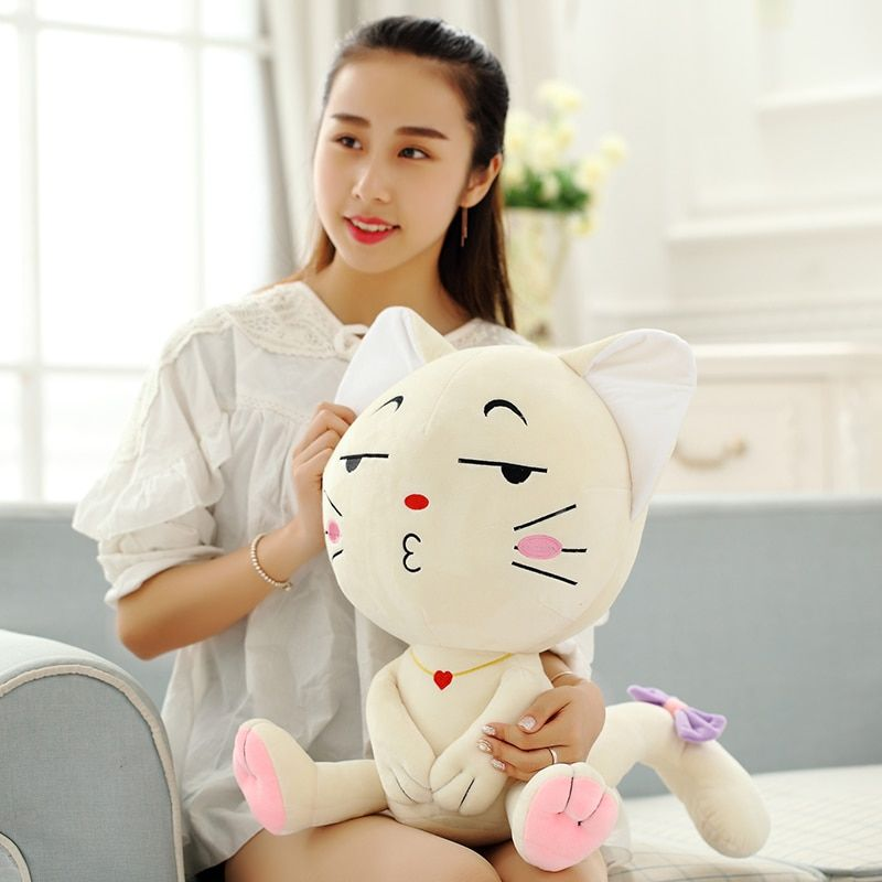 Emoji Oreiller, Expression Chat, jouets en peluche, Assis smileys poupée de chat, animaux en peluche Poupée, bébé poupée Smiley cadeau de noël