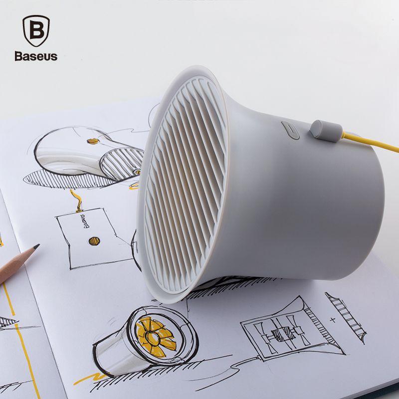 Baseus Mini USB Lüfter Protable Metall-usb-kühl Schreibtisch Ventilator für Büro Häuser Desktop Doppel mehrflügelzellen-vakuumpumpe Klimaanlage 2-gang Einstellbar Fan