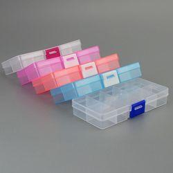 Новый 10 слотов ячеек красочный портативный ящик для хранения инструмента контейнер кольцо электронные запчасти, винты органайзер для буси...