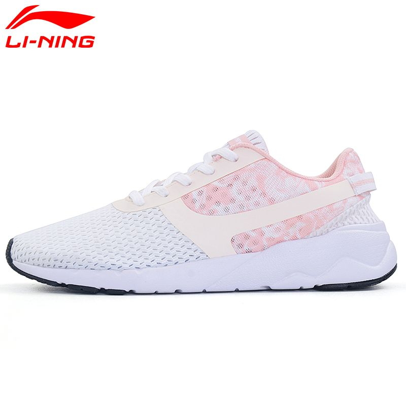 Li-Ning Women's Heather Sports Life Walking Shoes Leisure Breathable Sneakers Light Sport Shoes AGCM054 YXB042