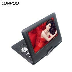LONPOO 2018 Newest portable 10.1 Inch DVD player with rotatable screen game and TV function support CDplayer MP3 for home