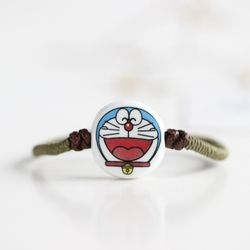 Modis Jepang Gelang Gaya Kartun Smile Doraemon Pola Gelang Keramik Tali Rantai Perhiasan untuk Wanita Aksesoris