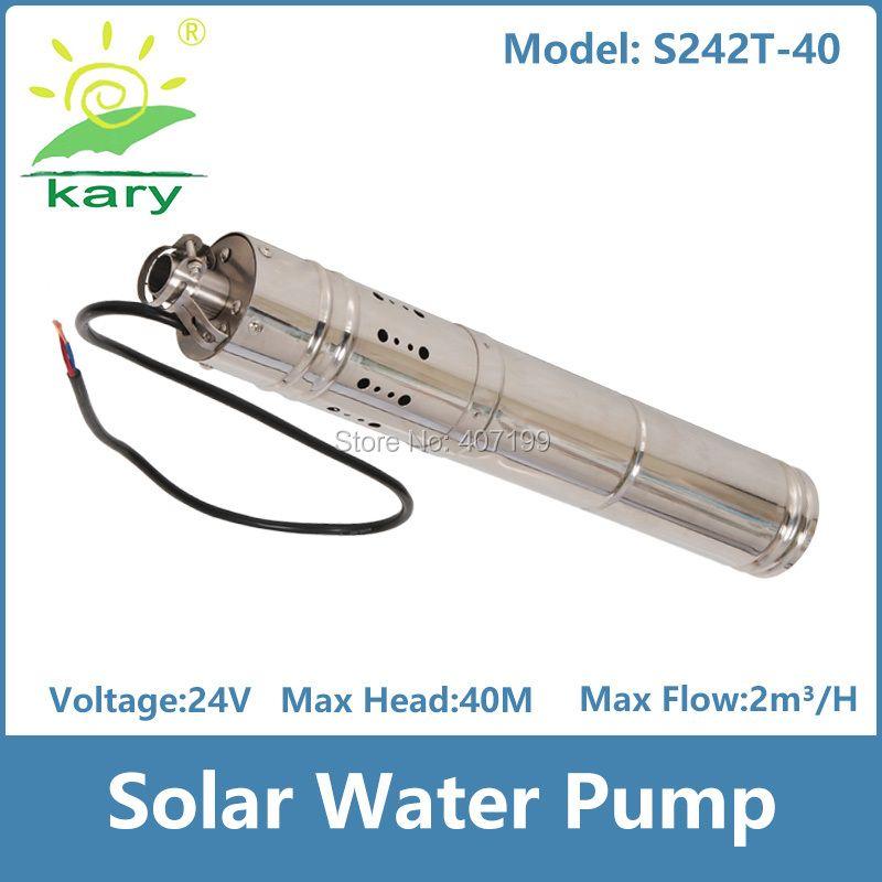 24 v dc brushless edelstahl schraube solarwasserpumpen maschine für tiefbrunnen tauchpumpe preis S242T-40