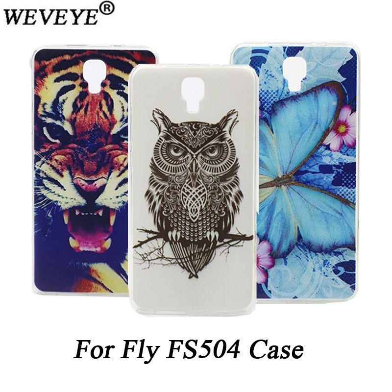 Mode DIY Peint cas Pour Fly Cirrus 2 FS504 Haute Qualité d'origine TPU Style de couverture pour Fly FS504 Cirrus 2 Protecteur cas