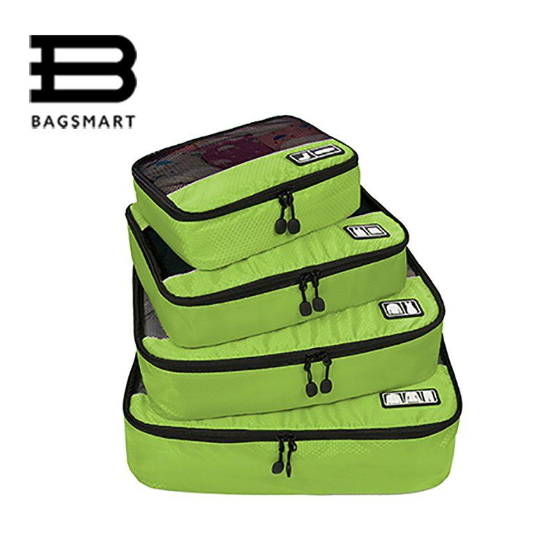BAGSMART 2017 дорожные аксессуары одежда багажа Упаковка дышащая дорожные сумки для рубашка брюки бюстгальтер носки обуви Макияж несессер