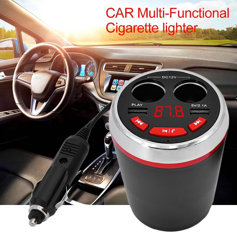 Multi-function Car bluetooth car kit Dual USB charger bluetooth handsfree speaker Music MP3 player new car styling