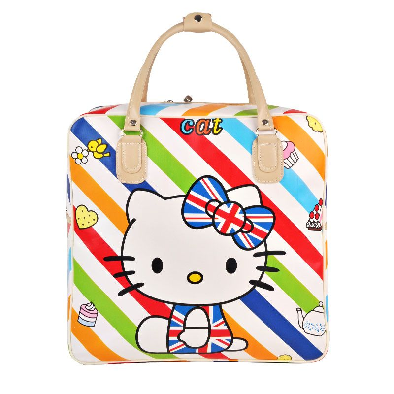 Cute Hello Kitty Handbag Girl's Women's Travel Messenger Bags Dual-use Organizer Shoulder Accessories Supplies Products valise