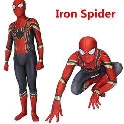 Spiderman Homecoming Cosplay Kostum Zentai Besi Spider Man Superhero Baju Setelan Celana Kodok