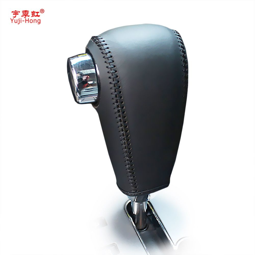 Yuji-Hong Car Gear Covers Case for KIA Sorento 2007 Automatic Shift Collars Genuine Leather Hand-stitched Cover