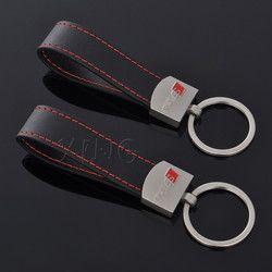 En cuir De Voiture Porte-clés Porte-clés Porte-clés Auto Porte Porte-clés Pour Audi Sline Logo S3 S4 S5 S Ligne RS A3 A4 A5 A6 Q3 Q5 Q7 Style