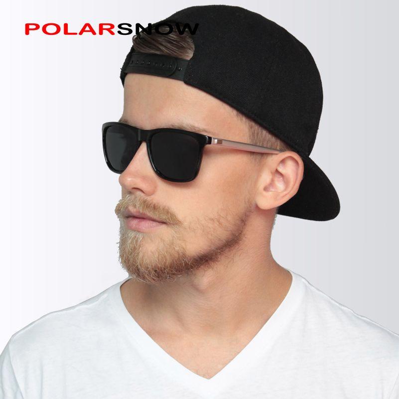 POLARSNOW aluminium + TR90 lunettes de soleil hommes polarisées marque Designer Points femmes/hommes Vintage lunettes conduite lunettes de soleil