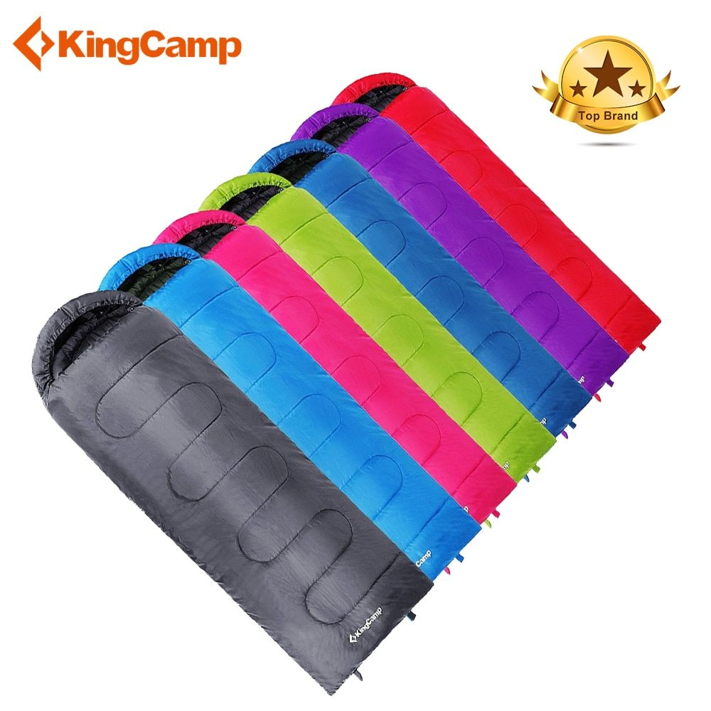 KingCamp Ultralight Sleeping bag Envelope Type Winter Cotton Sleeping bag Adult Hiking Sleeping Bag Large Size Bolsa De Dormir