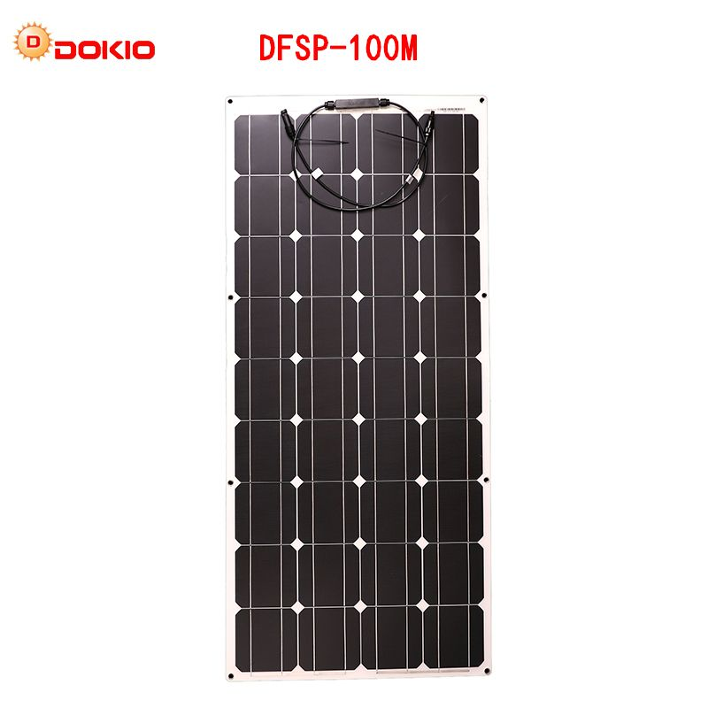 Dokio flexible Solar Panel 100W Monocrystalline Solar Cell Flexible for 12V 24 Volt Controller usb,200 Watt 400W600W800W1000W