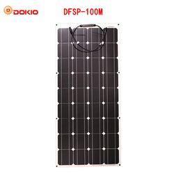 Dokio flexible Panneau Solaire 100 W Monocristallin Cellule Solaire Flexible pour 12 V 24 Volt Contrôleur usb, 200 Watt 400W600W800W1000W