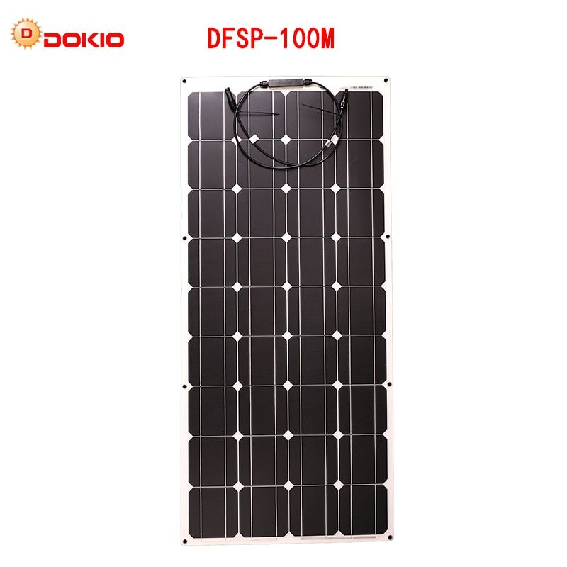 Dokio flexible Solar Panel 100W Monocrystalline Solar Cell Flexible for 12V 24 Volt Controller usb,200 Watt 400W600W800W1000W